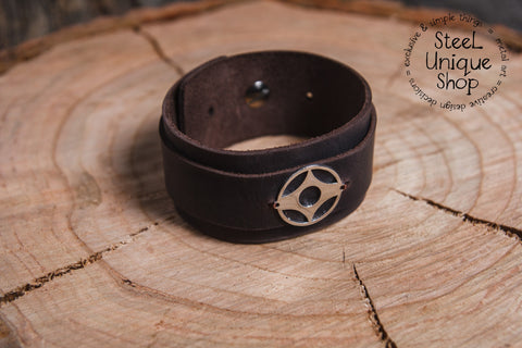 Kyokushin Kanku Karate Leather Bracelet