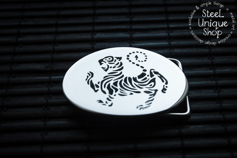 Shotokan Karate Tiger Belt Buckle