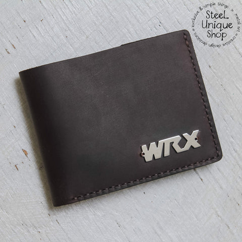 WRX on Leather Wallet version 2