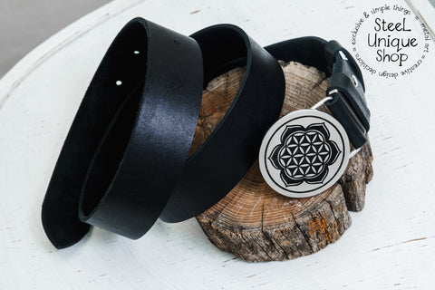 Flower Of Life Lotus Belt Buckle