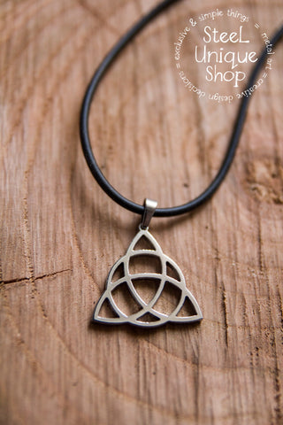 Charmed Triquetra Knot Pendant