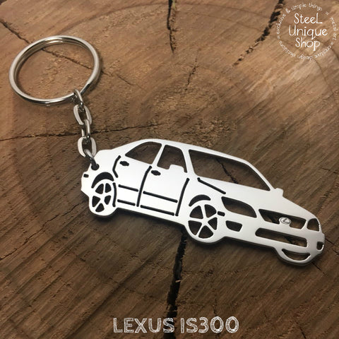 Lexus IS300 Angle view Keychain