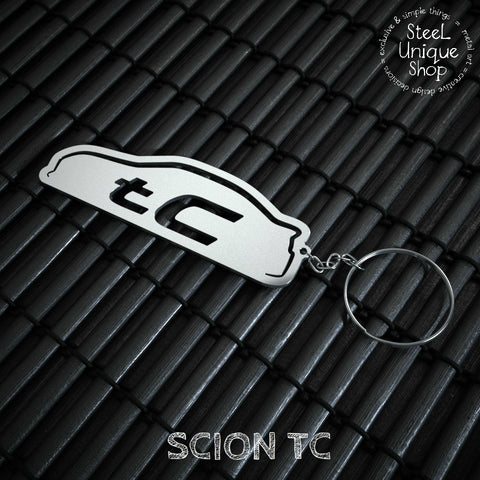 Scion TC side view Keychain