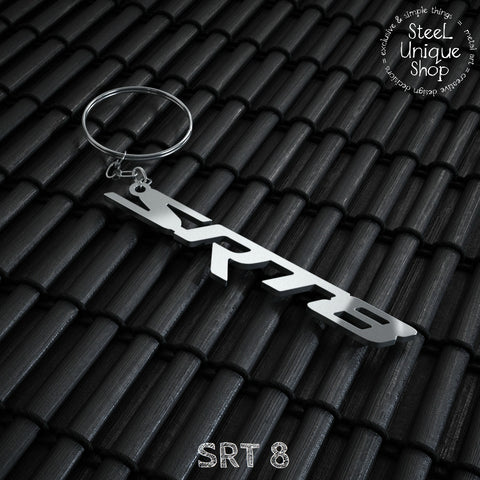 SRT 8 Stainless Steel Keychain