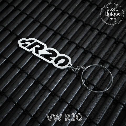 VW R20 Stainless Steel Keychain
