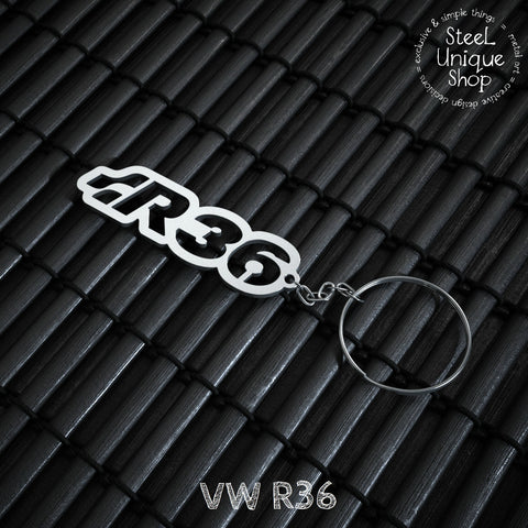 VW R36 Stainless Steel Keychain