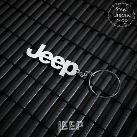 Jeep Stainless Steel Keychain