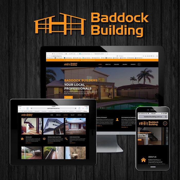 Builders Multi Page Themed Website