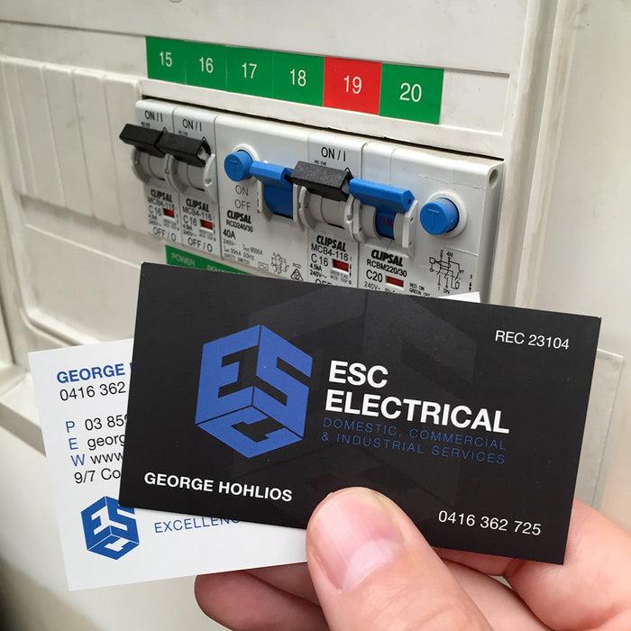 Electrician Business Cards - Tradie Packs