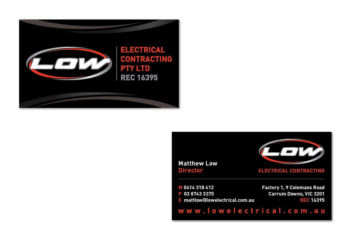 Business cards for tradies from 175 tradie packs electrical business cards tradie packs reheart Image collections