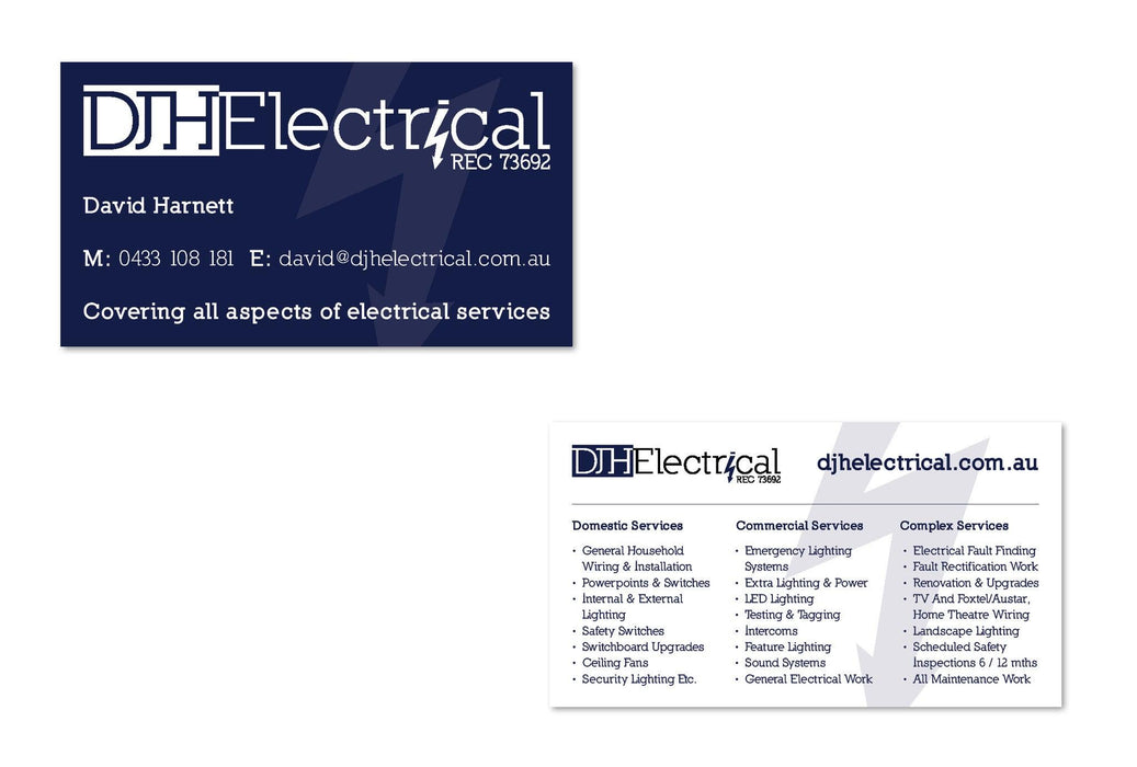 Electrical Business Cards - Tradie Packs