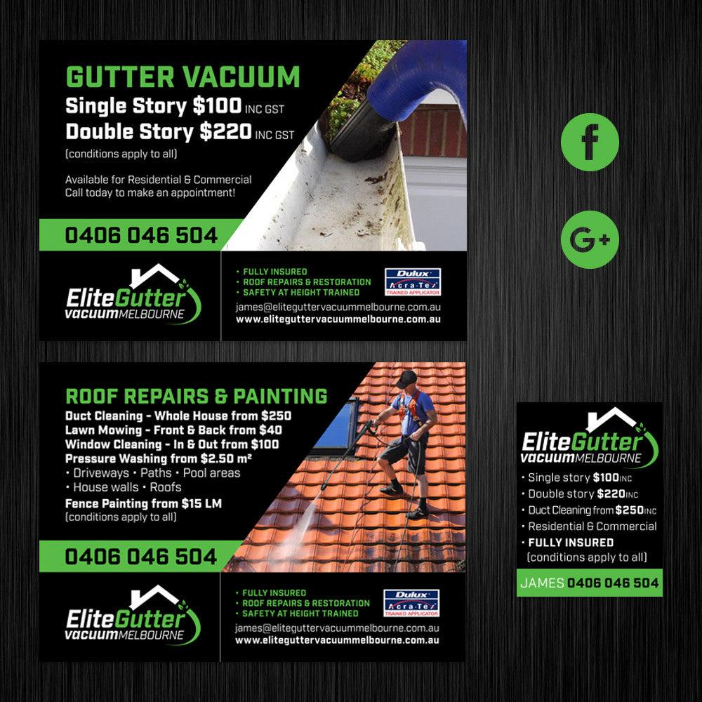 Elite Gutter Vacuum A5 Flyer