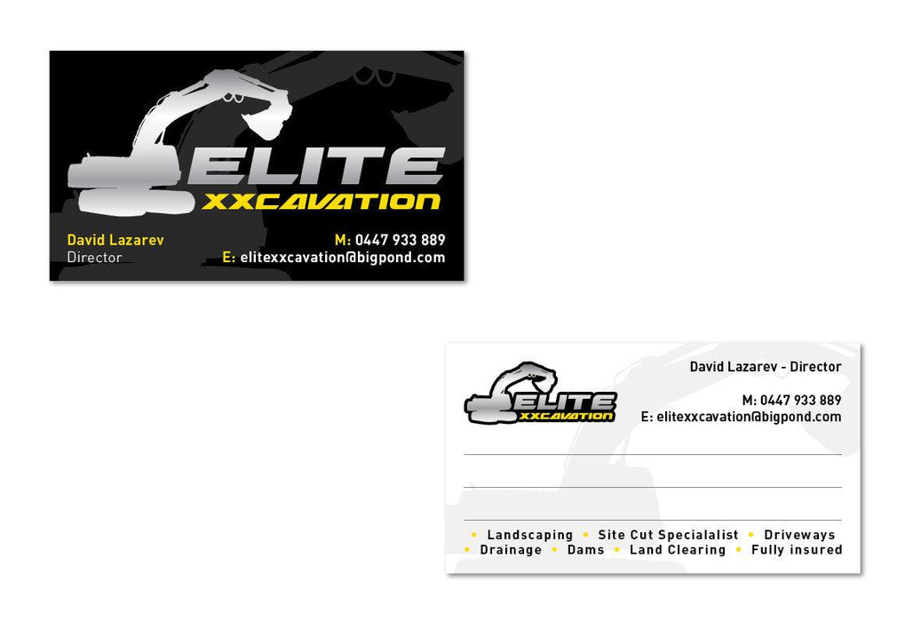 Excavator Business Cards - Tradie Packs