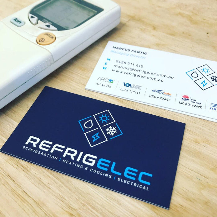 Refrigeration Premium Business Cards