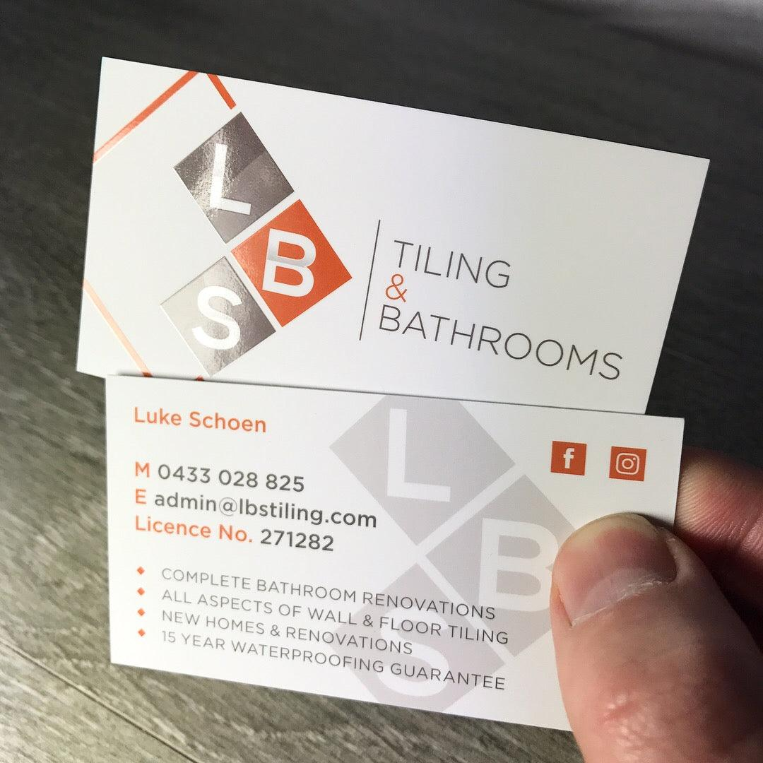 Premium business cards for tradies tradie packs tiling bathrooms premium business cards reheart Image collections