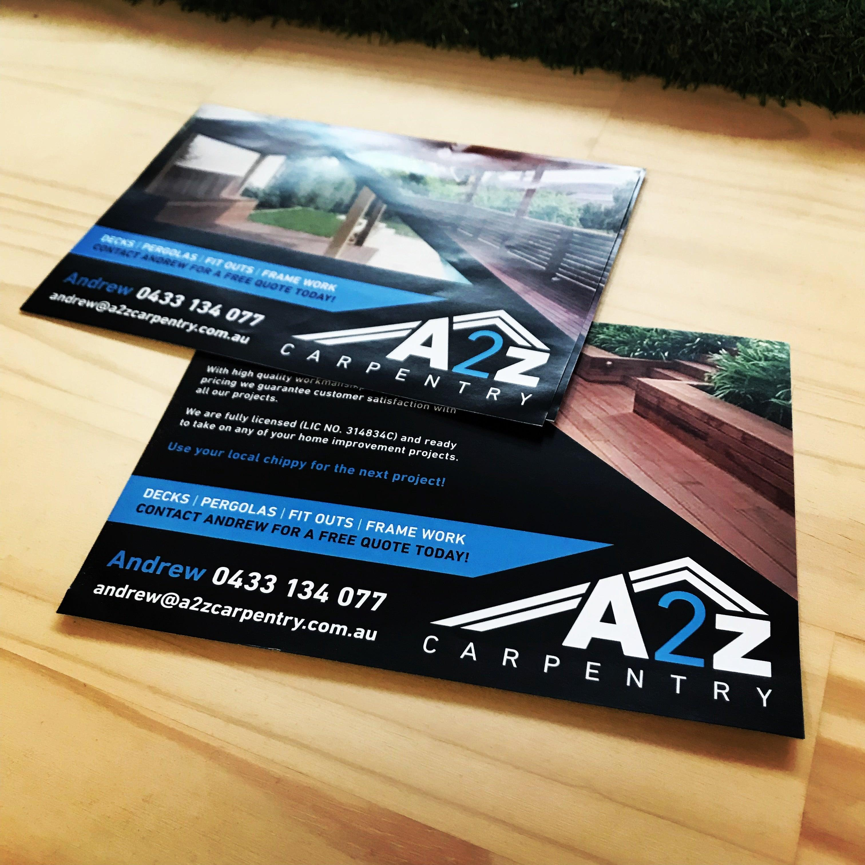 Custom designed flyers from 275 tradie packs a2z carpentry flyer reheart Images