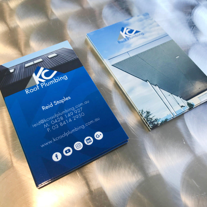 Roof Plumbing Premium Business Cards