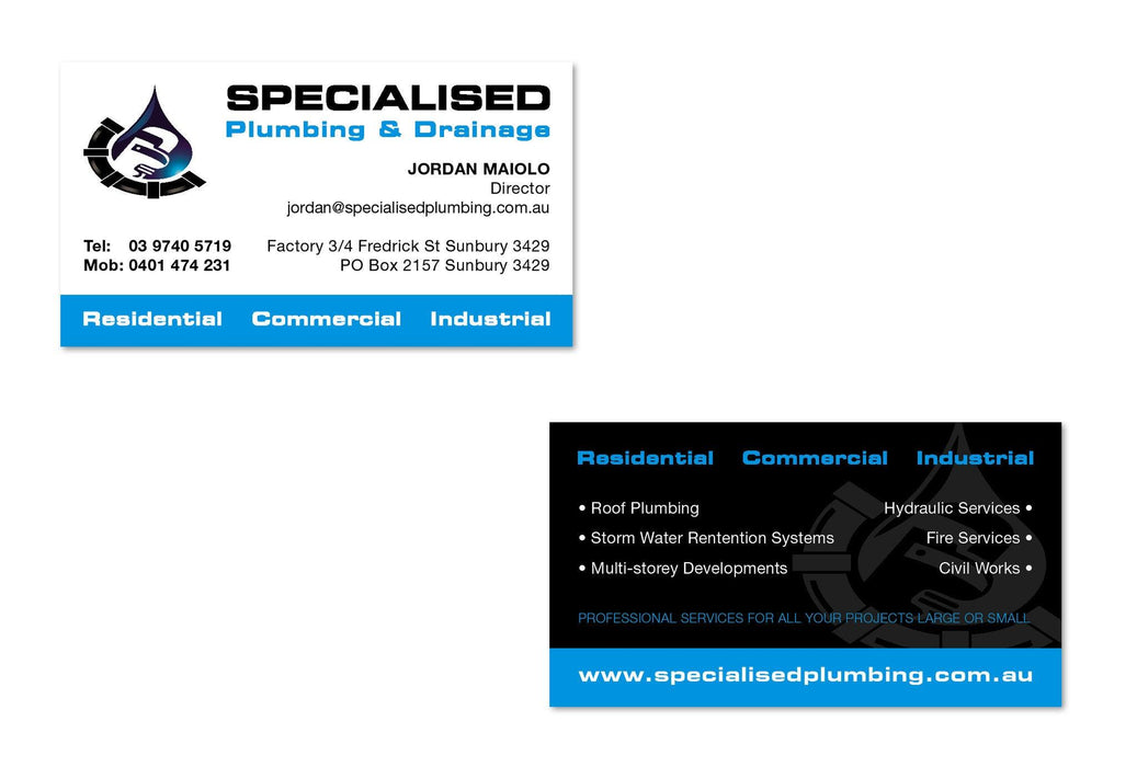 Plumbers Business Cards - Tradie Packs