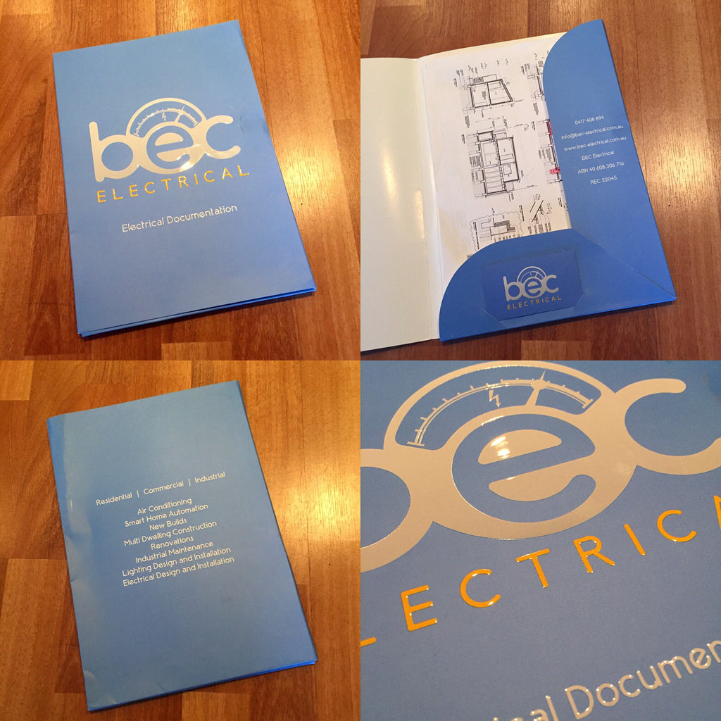 Electrical Presentation Folders - Tradie Packs