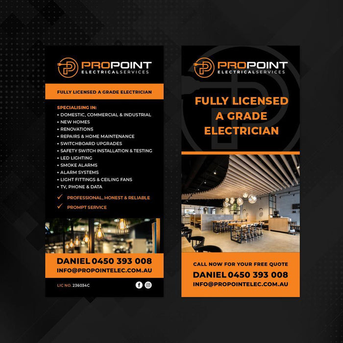 Pro Point Electrical Services DL Flyer - Tradie Packs