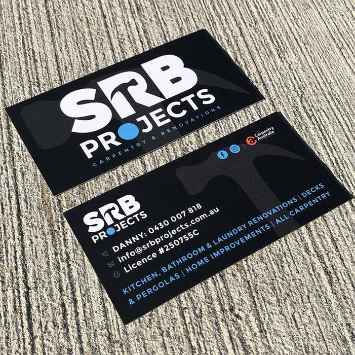 Sample tradie business card.