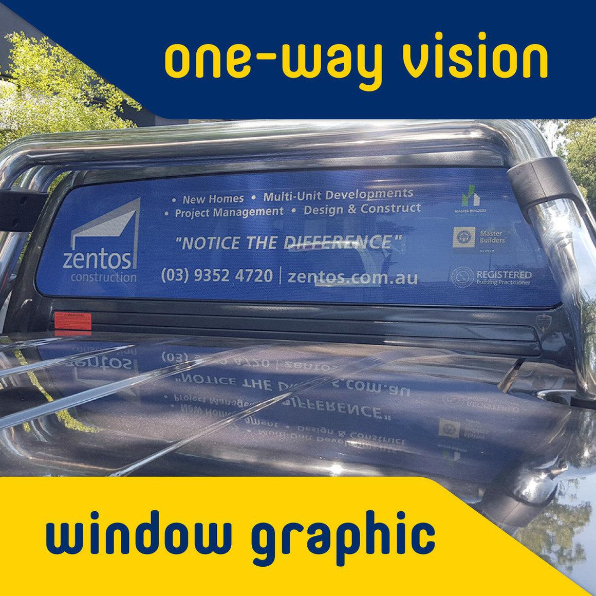One-Way Vision Window Graphic