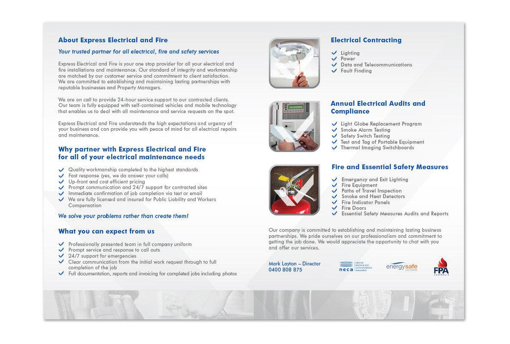 Electrical Brochures - Tradie Packs