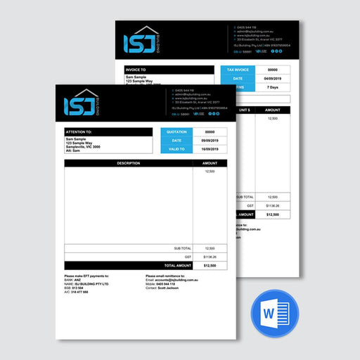 Invoice and Quote Templates
