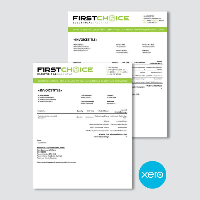 Electronic Invoice And Quote Templates Xero Templates Microsoft Word Templates Microsoft Excel Templates Or Active Pdf Format Tradie Packs