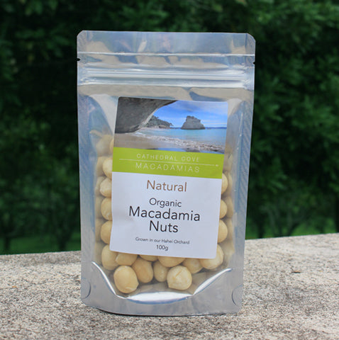 Natural Organic Macadamia Nuts 100g