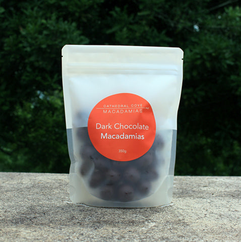 Dark Chocolate Coated Organic Macadamia Nuts 350g