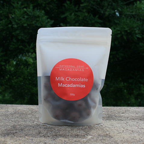 Milk Chocolate Coated Organic Macadamia Nuts 350g