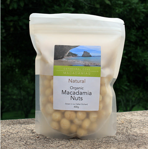 Natural Organic Macadamia Nuts 400g