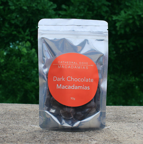 Dark Chocolate Coated Organic Macadamia Nuts 90g