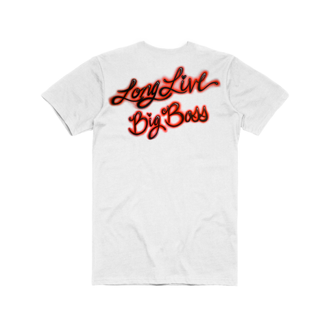 LONG LIVE BIG BOSS AIR BRUSH T-SHIRT - WHITE