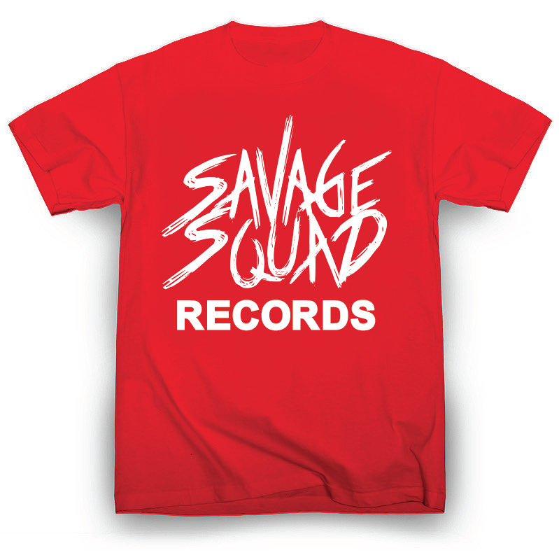 Savage Squad Records T-Shirt - Red