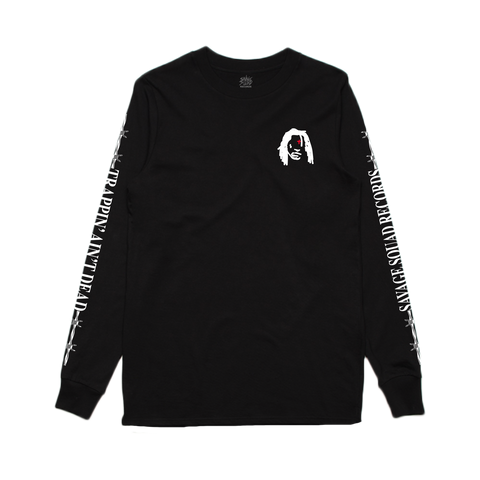 Trappin Aint Dead Long Sleeve - Black
