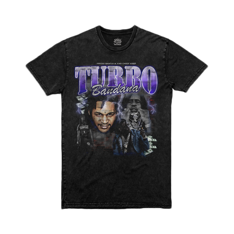 Turbo Bandana - Black Vintage Wash