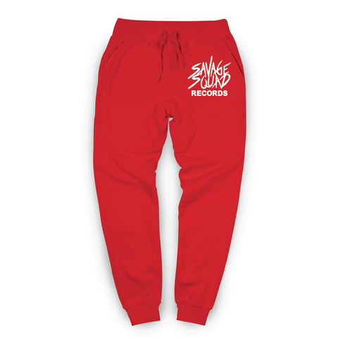 Savage Squad Records Joggers - Red