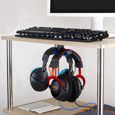 Big -T: Under Desk Dual Headphone Hangers