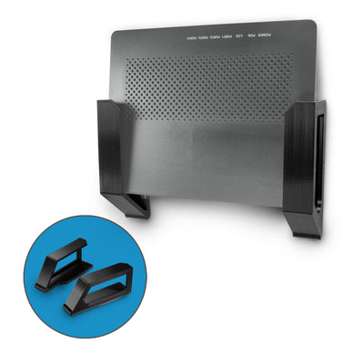 "Screwless Wall mount for Routers, Cable Boxes and more - Devices up-to 1.5""/ 38mm Thick"