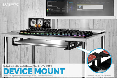 Modular Under Desk Mount for Routers, Cable Boxes and more