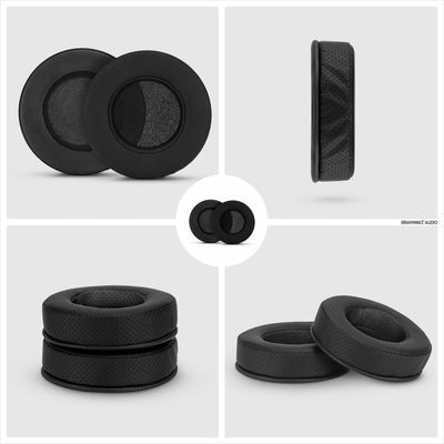 Headphone Memory Foam Earpads - Round - Perforated PU Leather