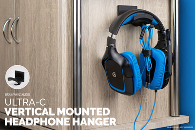Ultra-C: Headphone hanger with cable hook