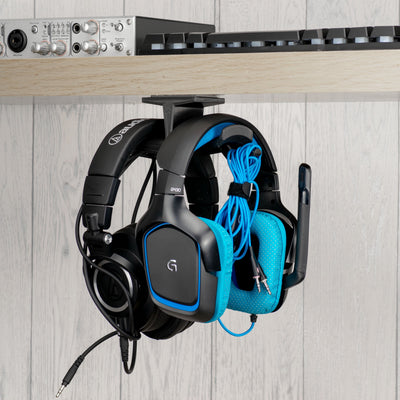 Ultra-T: Large Under Desk Headphone Hanger