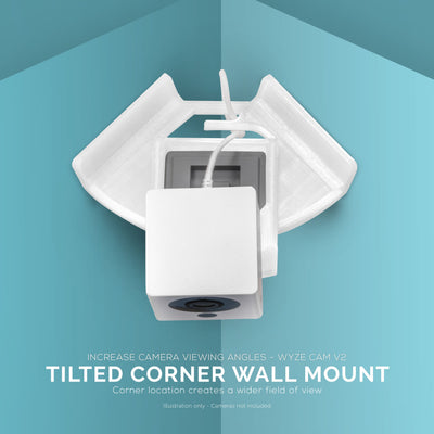 Tilted Corner Mount for Wyze Cam v2 Security Camera