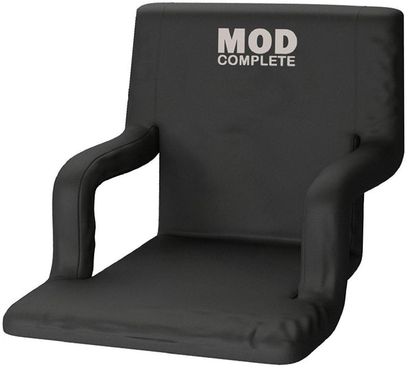 Standard Stadium Seat Chair for Bleachers or Benches - Enjoy Padded Cushion Backs and Armrest Support - 6 Reclining Custom Fit Sport Positions - Portable with Easy to Carry BackPack Straps - MOD Complete