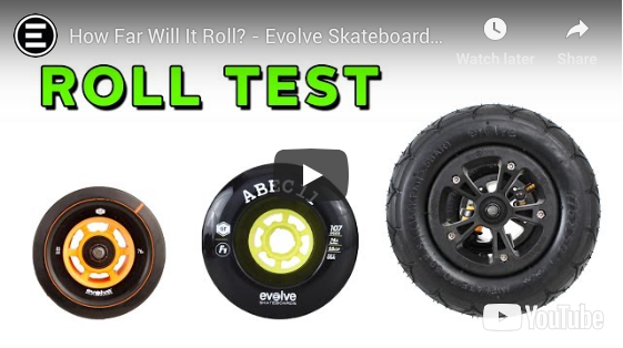 HOW FAR WILL IT ROLL? Evolve Skateboard Wheel Test - 83mm, 107mm, AT