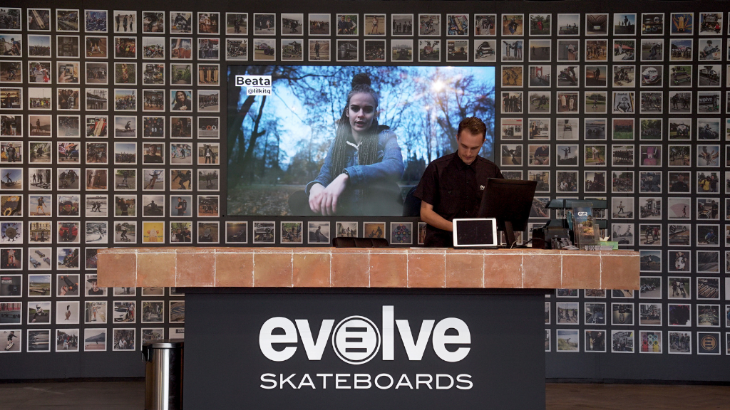 Evolve Skateboards UK The big Instagram wall