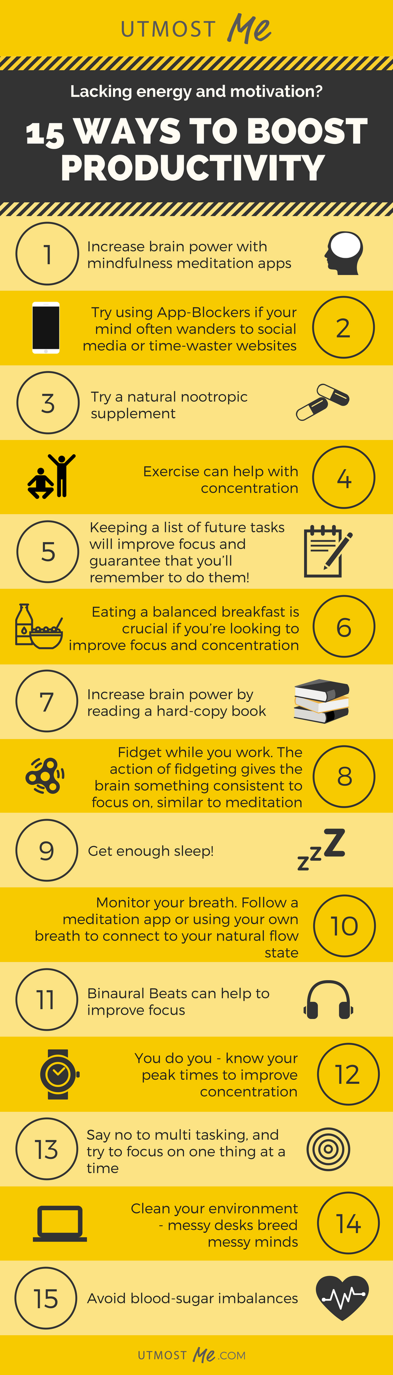 15 ways to boost productivity